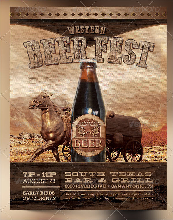 Western Beer Fest Poster Template