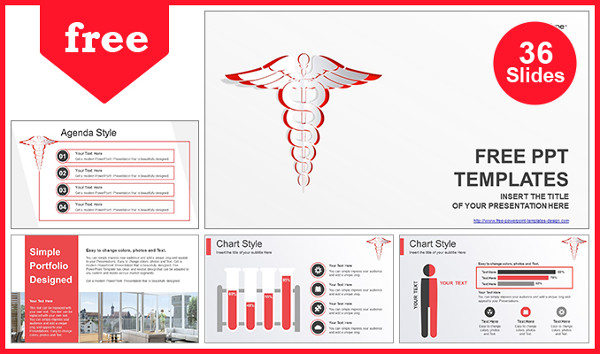White Medical Symbol Powerpoint Template Free Download