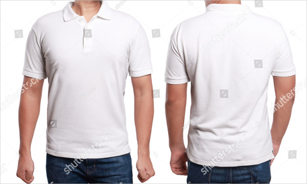 White Polo T-Shirt Mockup