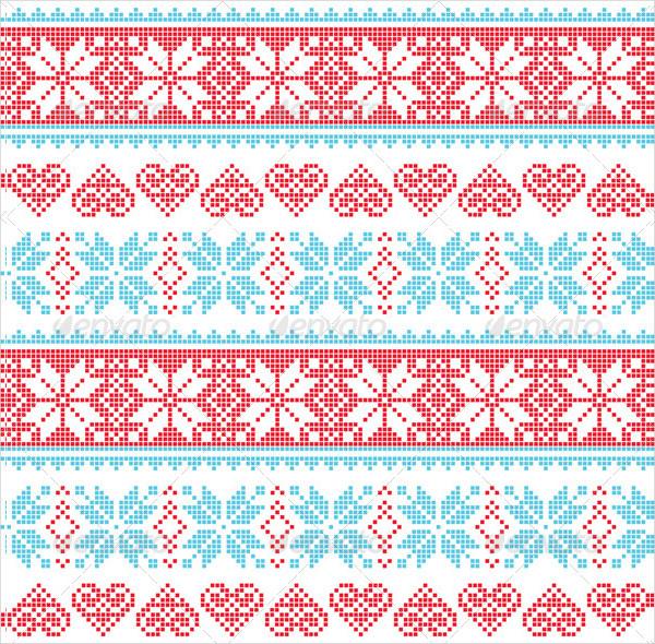 Winter Seamless Pixelated Pattern