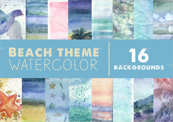 Wonderful Watercolor Beach Backgrounds