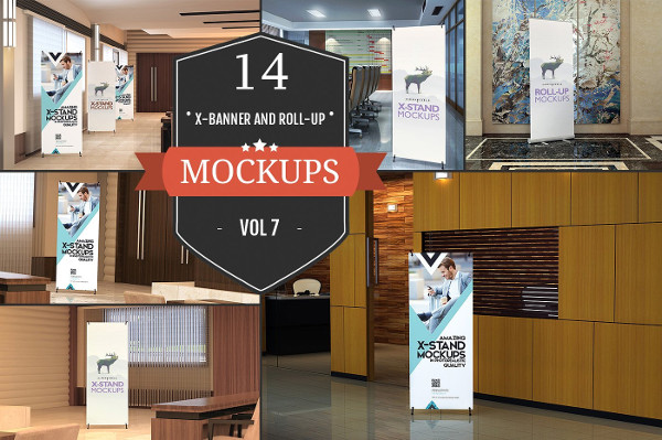 XStand & Rollup Banner Mockups