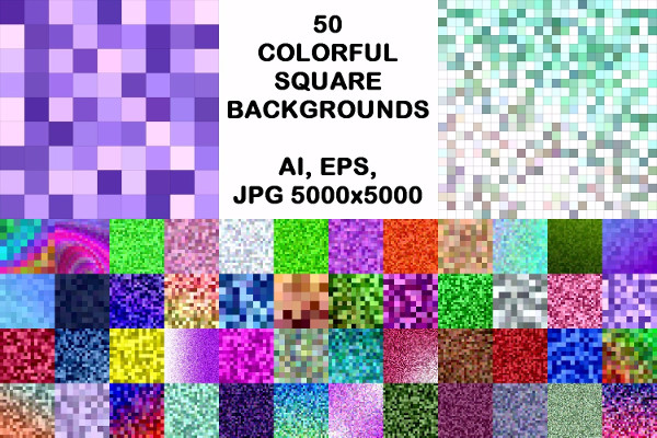 Colorful Square Backgrounds