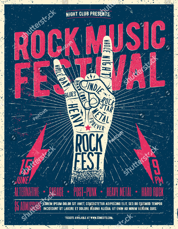 Rock Music Festival Poster or Flyer