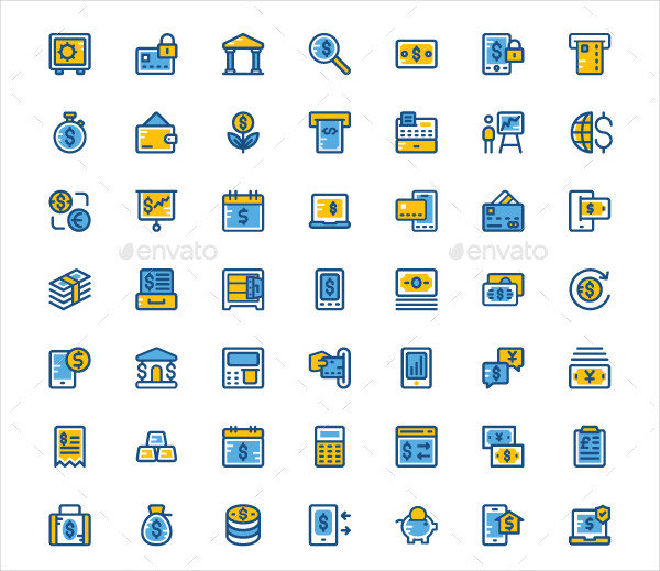 125+ Cute Finance and Payments Icons