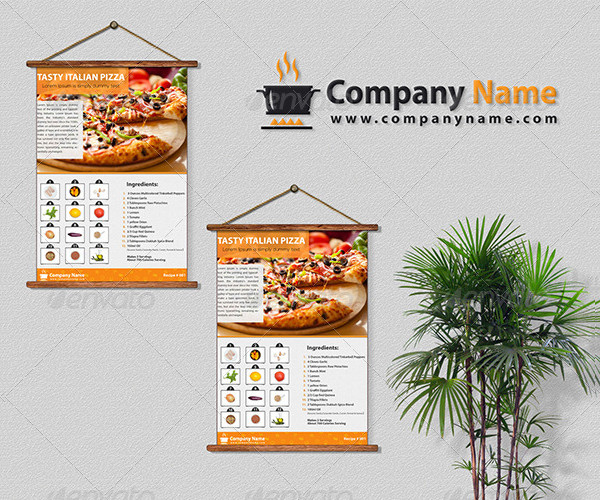 2 Page Recipe Flyer Template Design