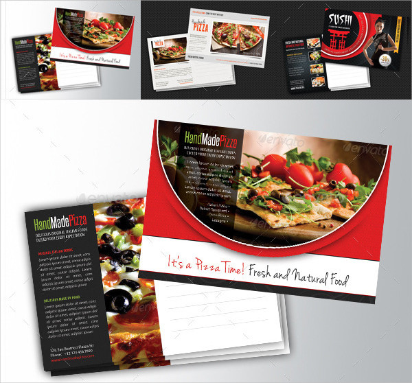 3 in 1 Restaurant Food Postcards Bundle