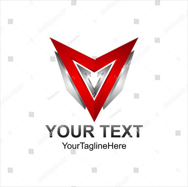 3D Abstract Triangle Vector Logo Concept