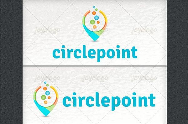 3D Circle Bubbles Chat Point Logo