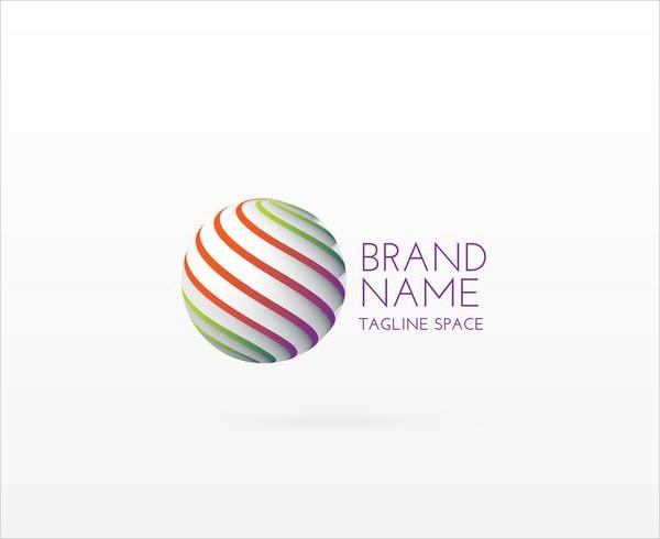 3D Circle Logo Concept Design Free