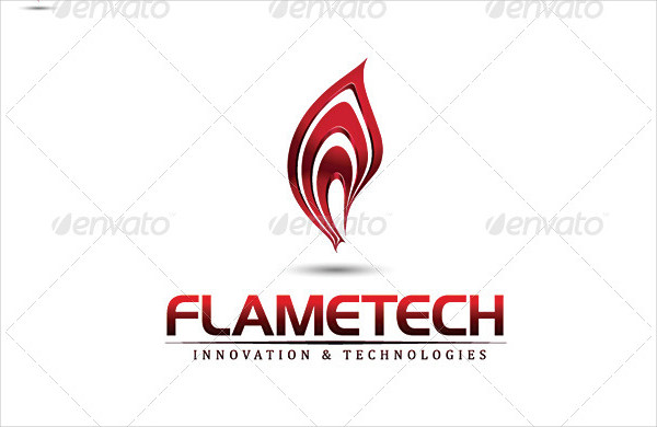 3D Fire Flame Logo Template