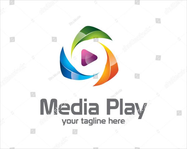 3D Play Logo Design