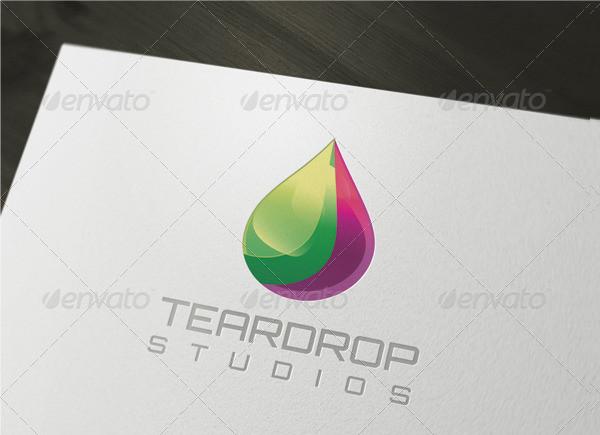 3D Teardrop Logo Template