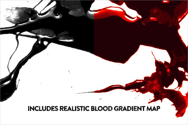 50 Glossy Blood Splatter Brushes