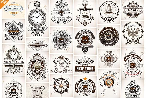 50 Labels and Badges Bundle