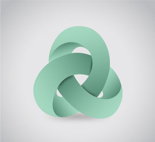 Abstract 3D Design Logo Free Vector