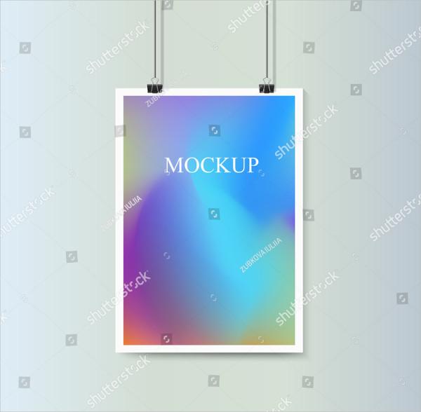 Abstract Hanging Poster Mockup