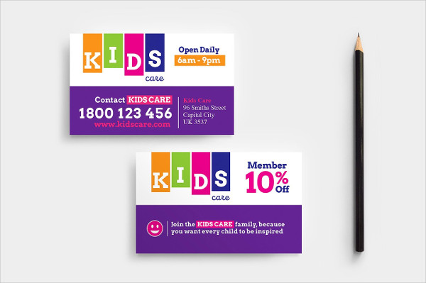 After School Care Business Card Template