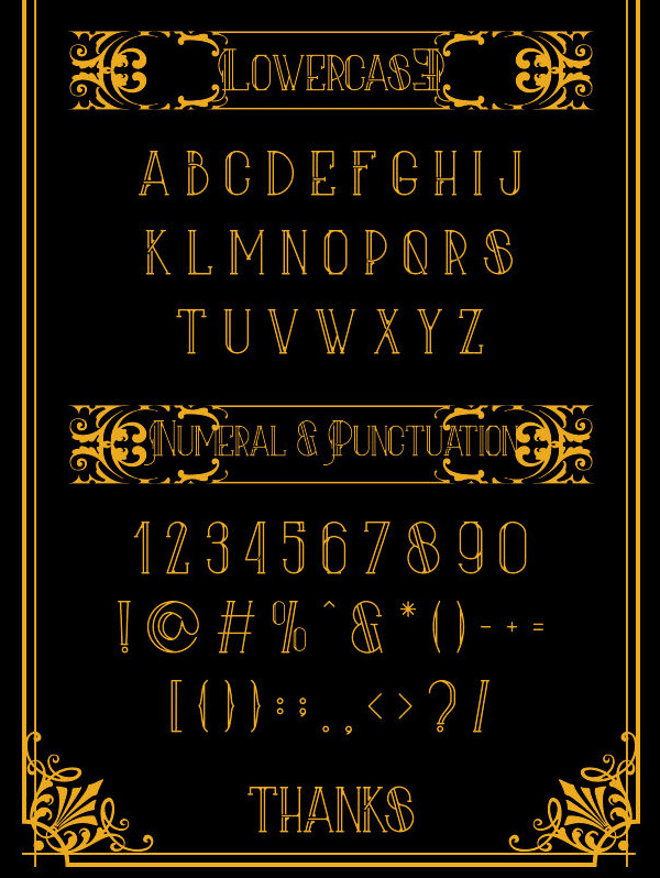 Aliva Font & Poster Vector