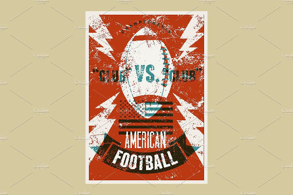 American Football Vintage Poster