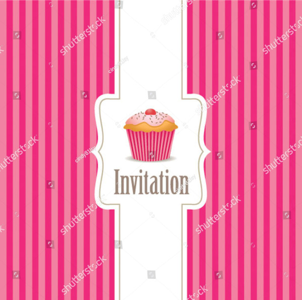 Custom Cupcake Invitation Background