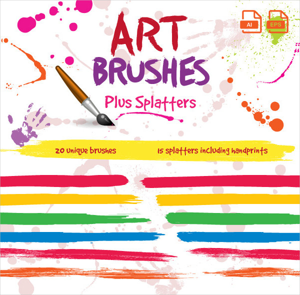 Unique Blood Art Brushes For Illustrator