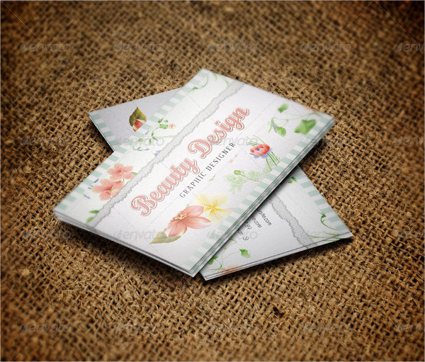 Artistic Floral Design Business Card