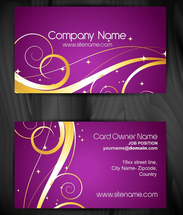 Artistic Floral Business Cards Design Free