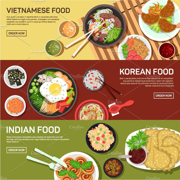Asian Street Food Web Banner Template