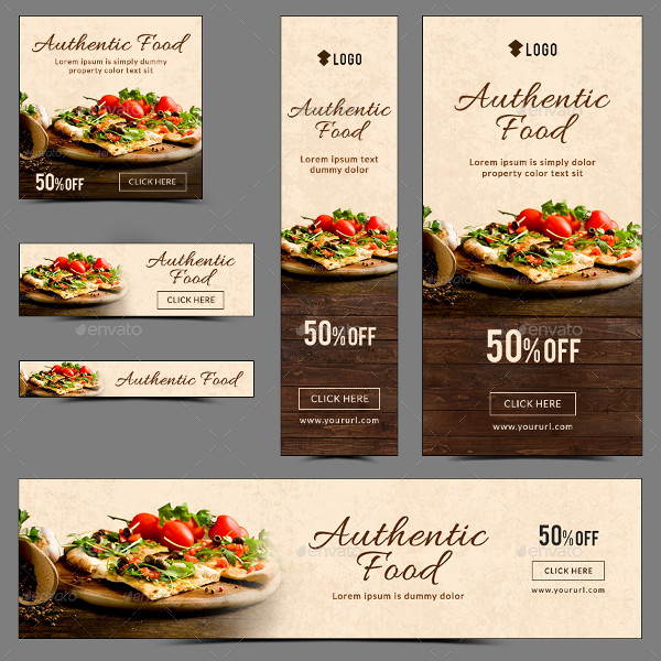 Custom Food Banner Designs