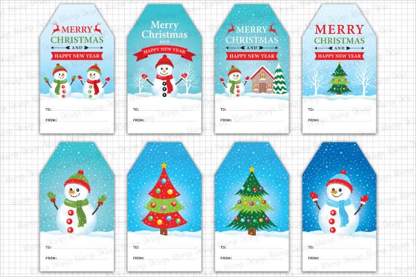 Attractive Christmas Gift Card Tags