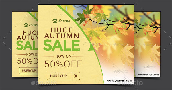 Autumn Sale Web Banner Design