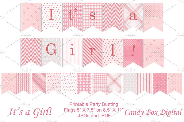 Baby Girl Full Size Party Banner