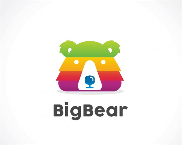 Bear Shape Logo Template Free Download