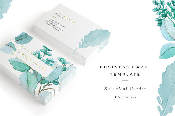 Beautiful Botanical Garden Business Card Template