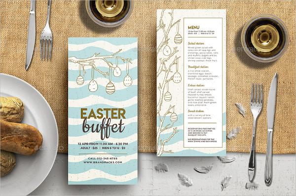 Beautiful Easter Brunch Menu Designs