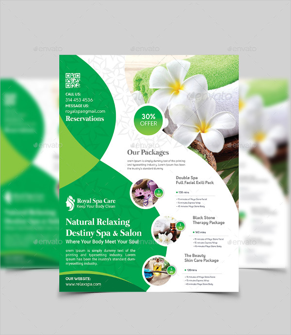 Royal Spa Care Flyer Template