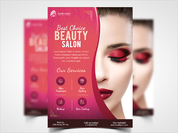 Beauty Salon Flyer Template Free PSD