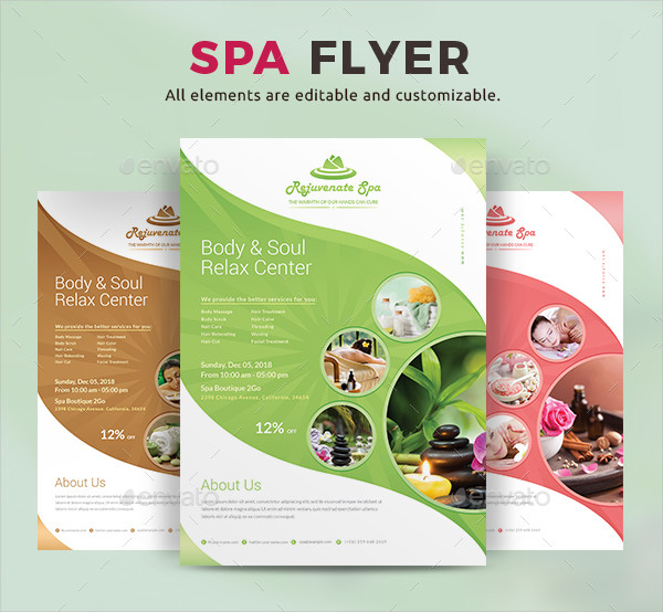 Fully Editable Spa Flyer Template