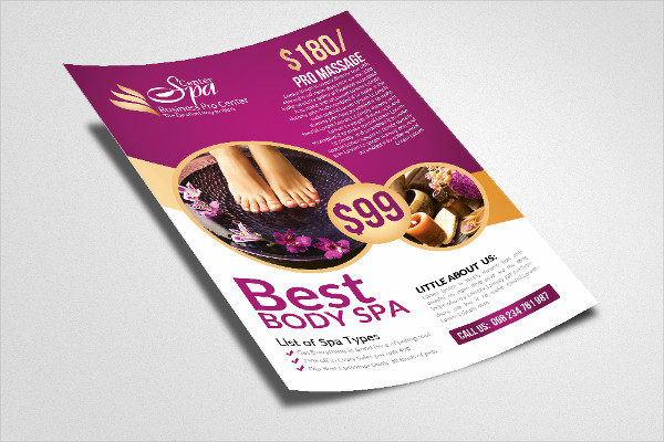 Beauty & Spa Print Flyer Templates