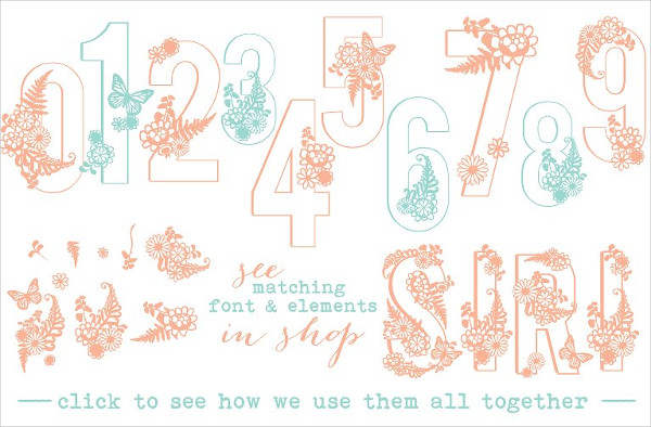 Best Floral Numbers Font
