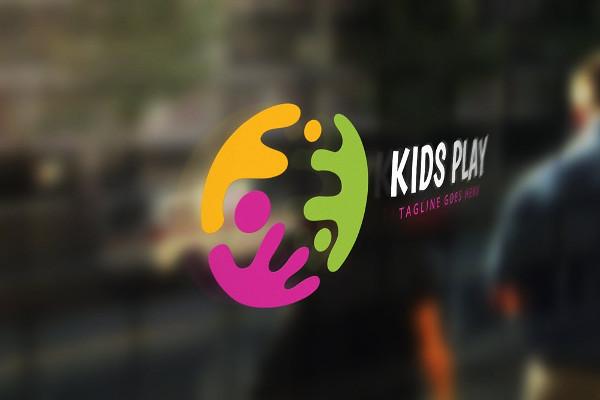 Best Kids Play Logo Template