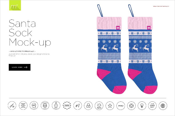 Best Santa Sock Mock-Up