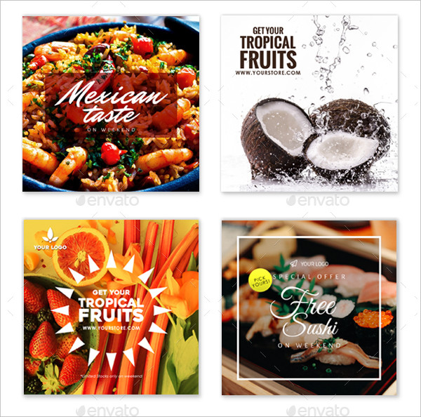 Fully Editable Instagram Food Banner Design
