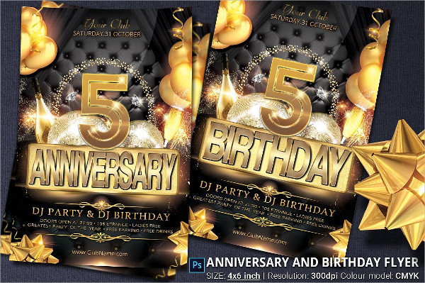 Birthday Champagne Party Flyer