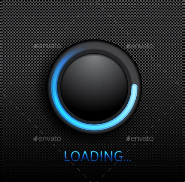 Highly Detailed Upload Black Button