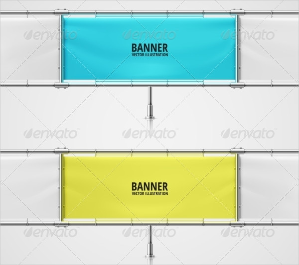 Blank Advertising Banner Design