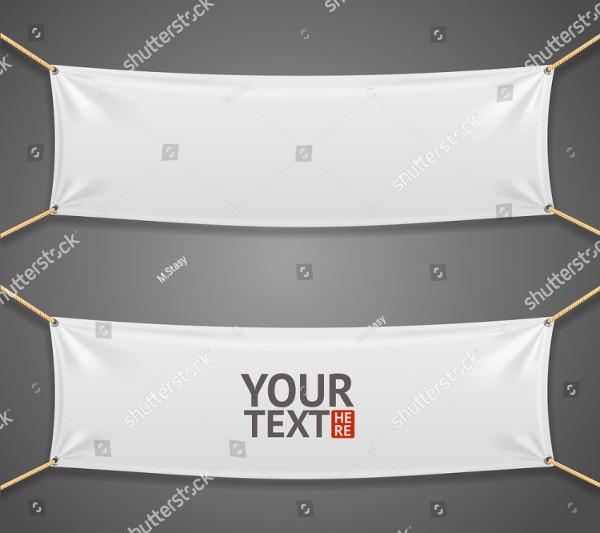 Blank Fabric Rectangular Banner