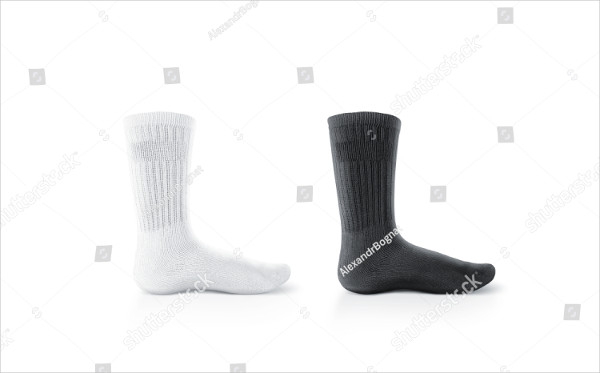 Blank Long Socks Design Mockup