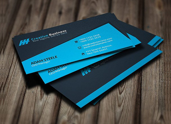 Blue Creative Business Card Designs